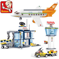 678Pcs City International Airport Aviation Technic Model Building Blocks Sets Plane Figures Bricks LegoINGLs Toys For Children