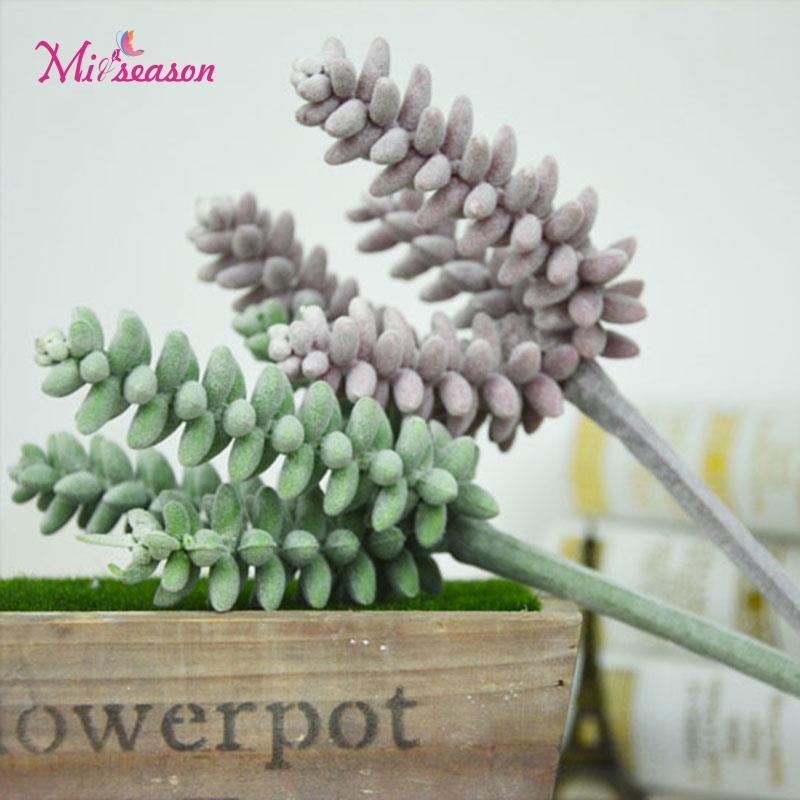 4 Forks Artificial fleshiness Succulent plant Tufting Floss Plastic Fruit Plants landscape PU decorative flower home decoration