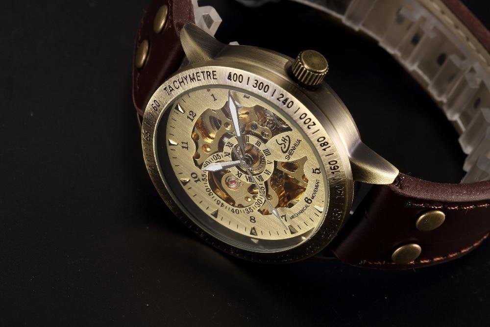 HTB1fkFGP9zqK1RjSZFHq6z3CpXal Skeleton Mechanical Watch Automatic Watch Men Steampunk Bronze Transparent Mens Automatic Mechanical Watches Clock montre homme