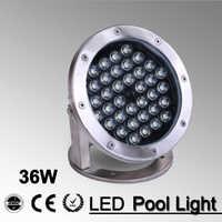 5 יח'\חבילה 36w חיצוני אור לבן/RGB 12V 24v LED שחייה בריכת מזרקת נוף תאורת בריכה אור Led מתחת למים אור