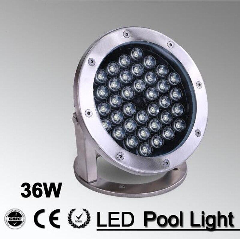 5pcs/lot 36w Outdoor Light White/ RGB 12V 24v LED Swimming Pool Landscape Fountain Lighting Pool Light Led Underwater Light цена
