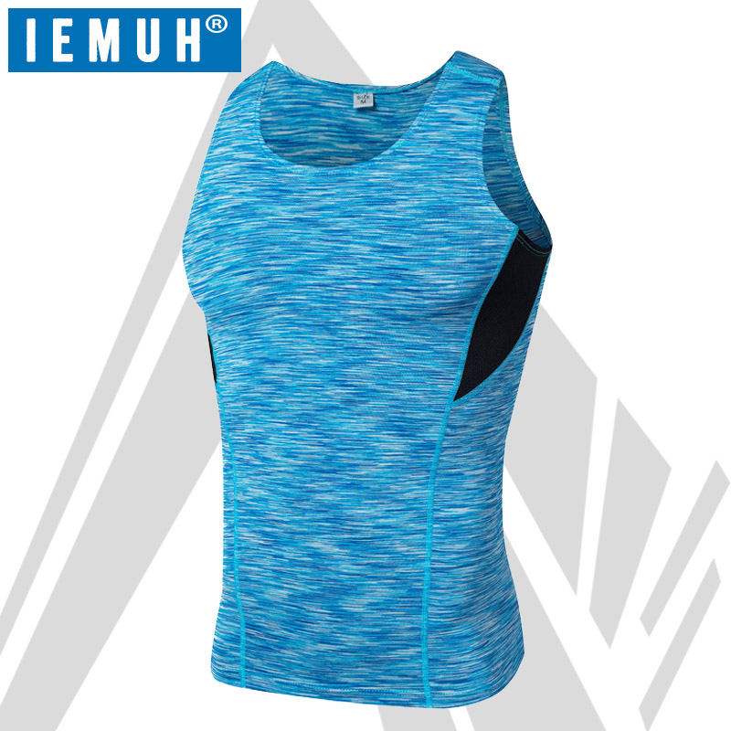 Quick dry Vest Bodybuilding Fitness Men Undershirt Solid   Tank     tops   men undershirt Gyms Baselayer Sweat-Wicking Compression