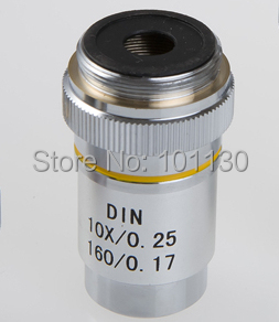 10x 195 composite achromatic objective lens for phoenix biological microscope Ph50 ph100 with Metal Shell and Optical Glass Lens