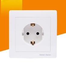 16A EU wall socket panel European standard concealed type 86 wall switch socket 5p 63a cee iec international standard panel mounted straight socket waterproof concealed industrial socket sp 1252
