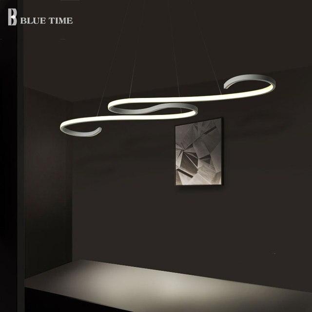 Decorazione curvo moderno lampadario led luci della cucina - Lampadari a soffitto per cucina ...