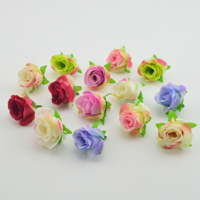 1pcs decoration small silk rose buds artificial collage flower head 1pcs decoration small silk rose buds artificial collage flower head wedding decoration diy wreath gift craft mightylinksfo Image collections