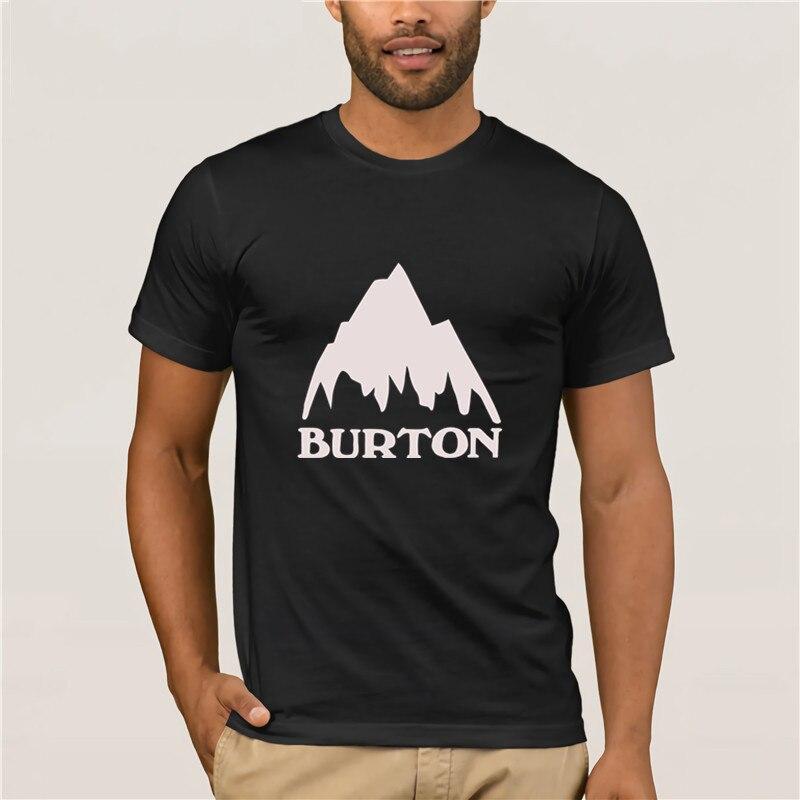 T-shirt Round Neck Cool  Man's T-shirt Burton Snowboards  T-Shirt Men