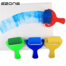 EZONE 4PCS Sponge Painting Brushes Sponge Paint Rollers for Kids Arts Crafts DIY Painting Tools Art
