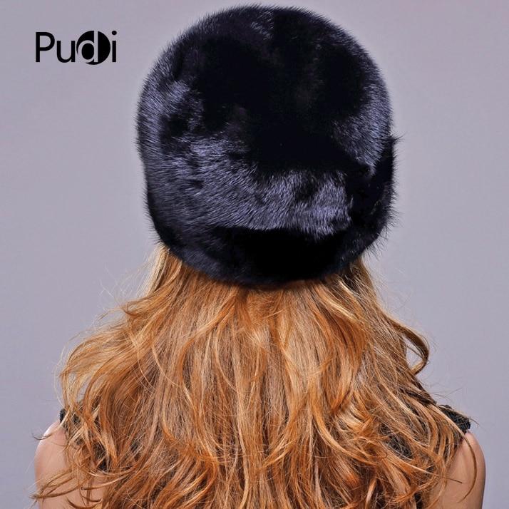 True Winter 100% vison chapeau femmes fourrure bandeau chaud mode fourrure chapeau, universel pour hommes et femmes, livraison gratuite. - 3