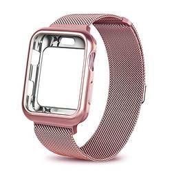 ASHEI для Apple Watch 3 группа 38 мм 42 мм Milanese Loop + покрытием Защитный чехол для iWatch серии 3 2 1 Нержавеющаясталь сетка ремень