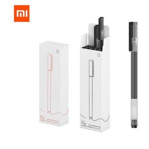 Image 1 - 원래 Xiao mi mi jia 서명 펜 0.5 Mm mi 카코 볼펜 코어 내구성 서명 펜 리필 블랙 Japen 잉크 10 개/대