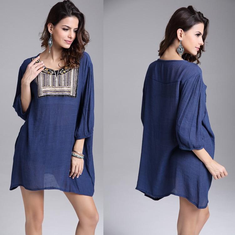 Buy Cheap 2017 Fashion Party Mini Casual Summer Style Dress Embroidery Vestidos De Festa Beach Femininas Tropical Women Dress