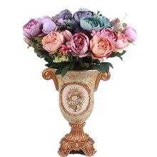 Bouquet of Artificial Vivid Peonies