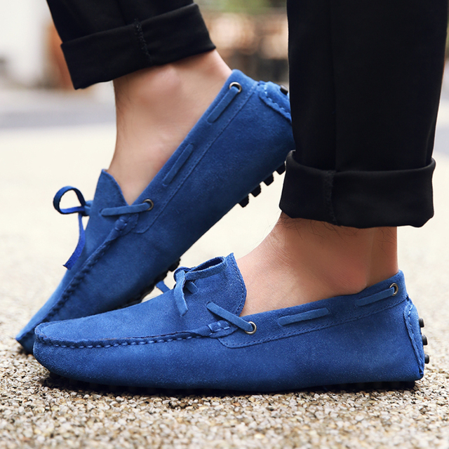 New Fashion Brand Spring Summer Men Driving Shoes Loafers Leather Shoes for Boat Breathable Casual Male Flats Loafers Size