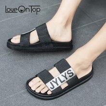 Летние мужские пляжные сандалии-шлепанцы модная Уличная обувь на плоской подошве