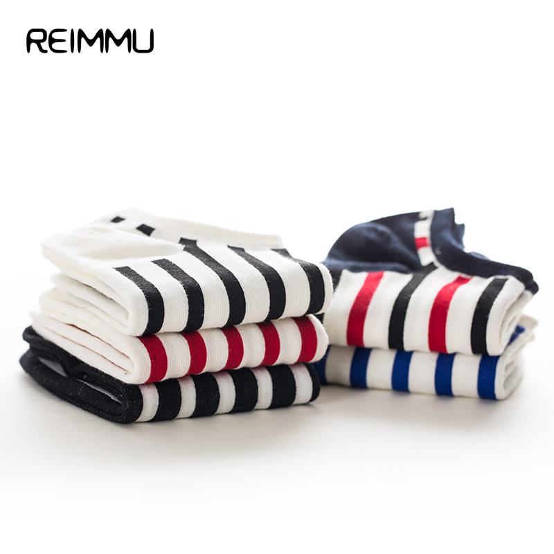 New Arrival Reimmu 21 Color Mens No Show Printed Socks Fashion Style Invisible Short Socks Male Famous Brand Chaussette Homme