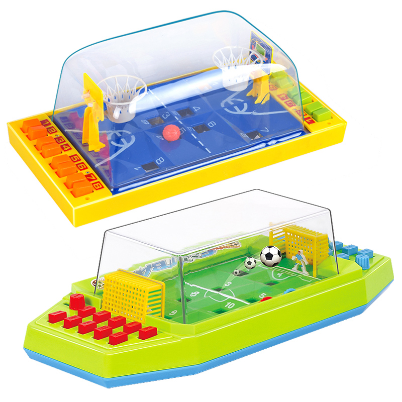 Mini Basketball Football Shooting Game Desktop Party Playing Board Games Toys For Kid And Adult Family