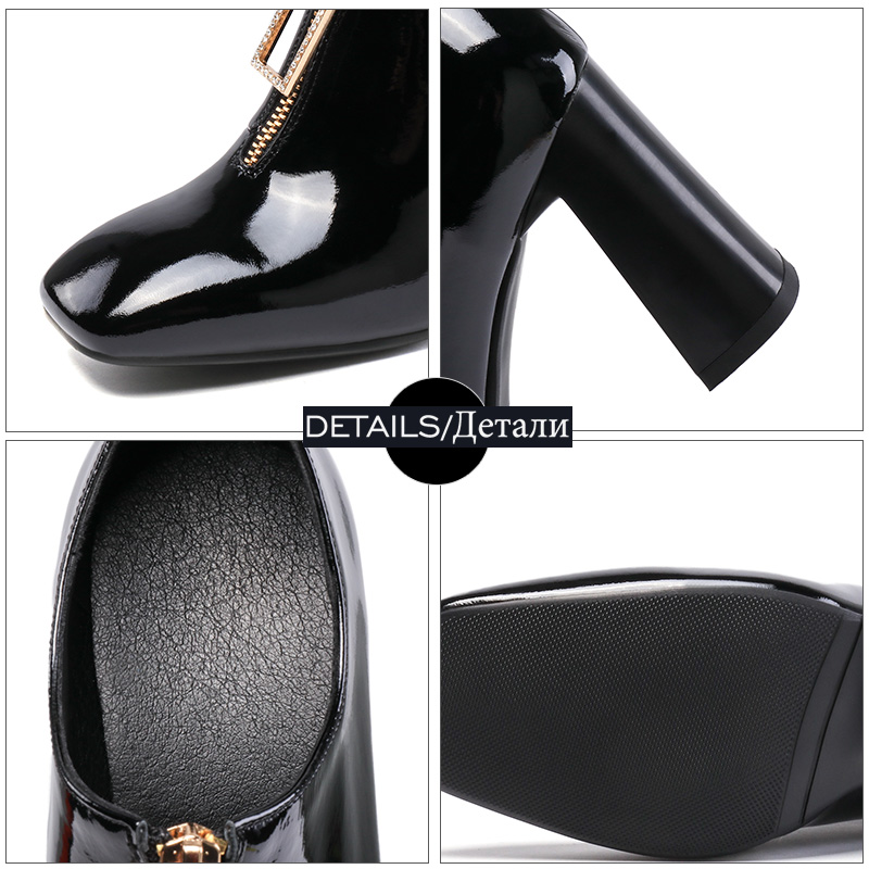Gruesos Mujer Tinto Cuadrado vino Calzado Isnom Mujeres Las Del De Cristal Primavera Tacones Negro Pie Dedo 2019 La Cuero Zapatos Moda 5RqwOAfR