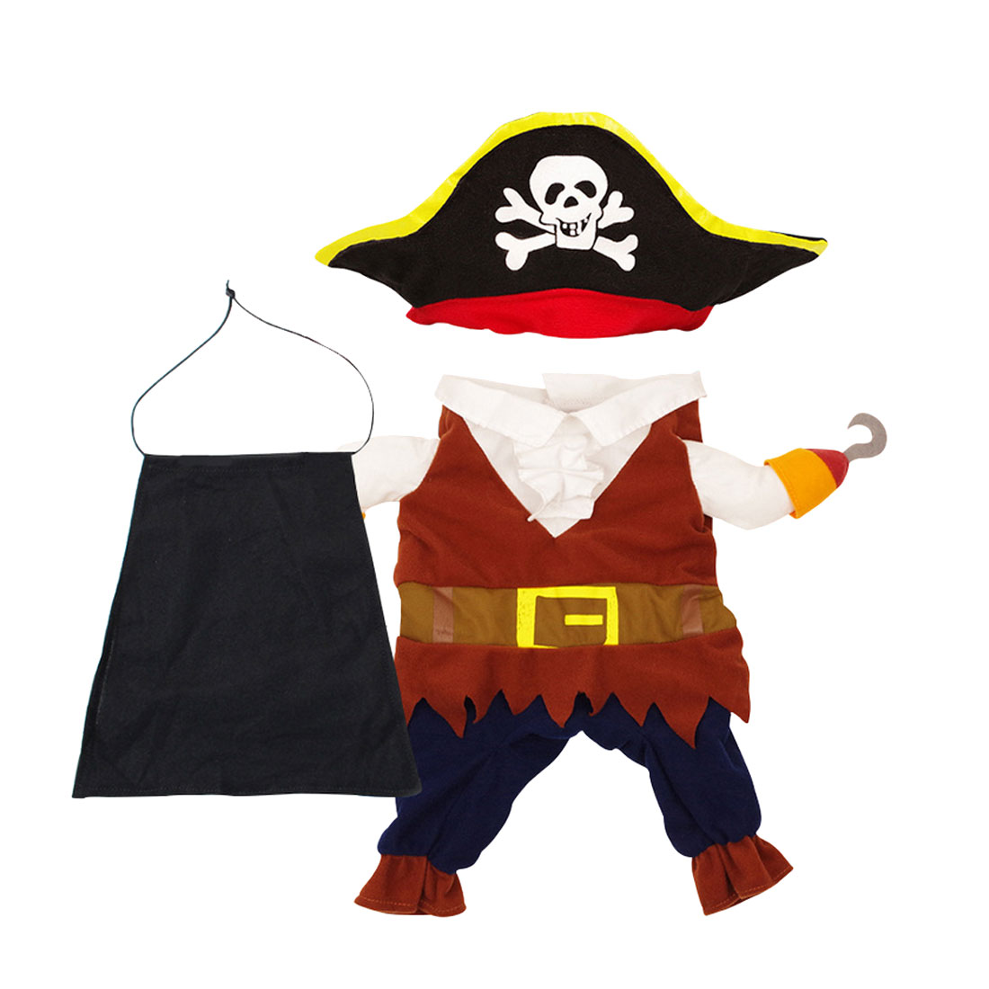 Nice Funny Cat Costume Pirate Suit Cat Clothes Corsair Halloween Costume Puppy Suit Dressing Up Party Clothes For Cat