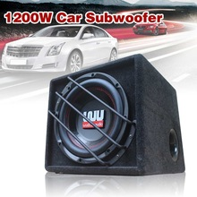 Car-Speaker Woofer Active Built-In-Amplifer Auto Super-Bass 10inch 1200w