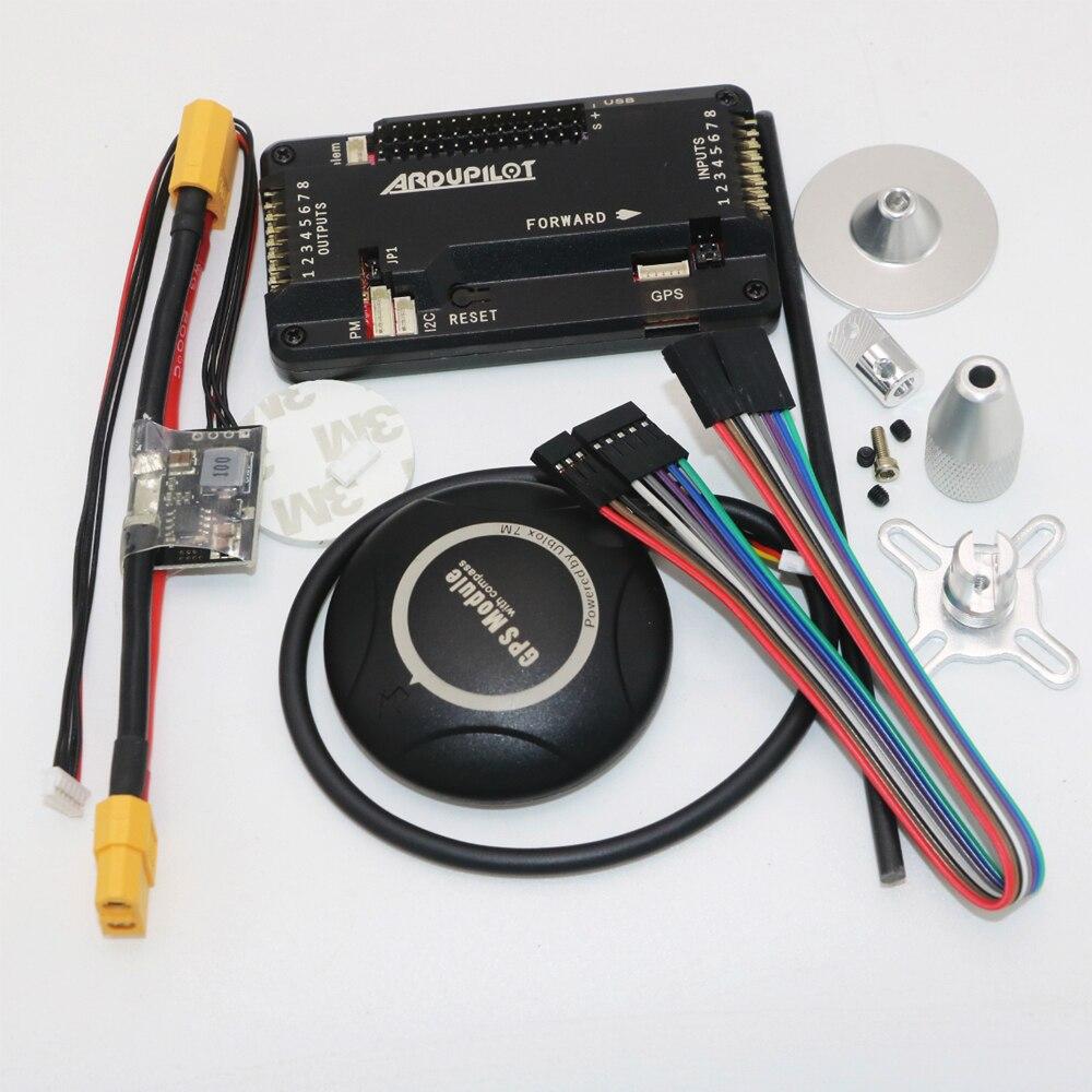 APM 2,8 ArduPilot Мега внутренний компас APM Контроллер полета встроенный компас с Ublox NEO-7M gps для FPV RC Дрон самолет