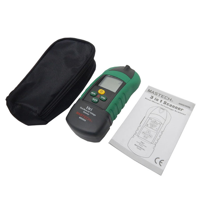 MASTECH MS6906 3 in 1 Multi-function Stud Metal AC Voltage Scanner Detector Tester Thickness Gauge w/ NCV Test  цены