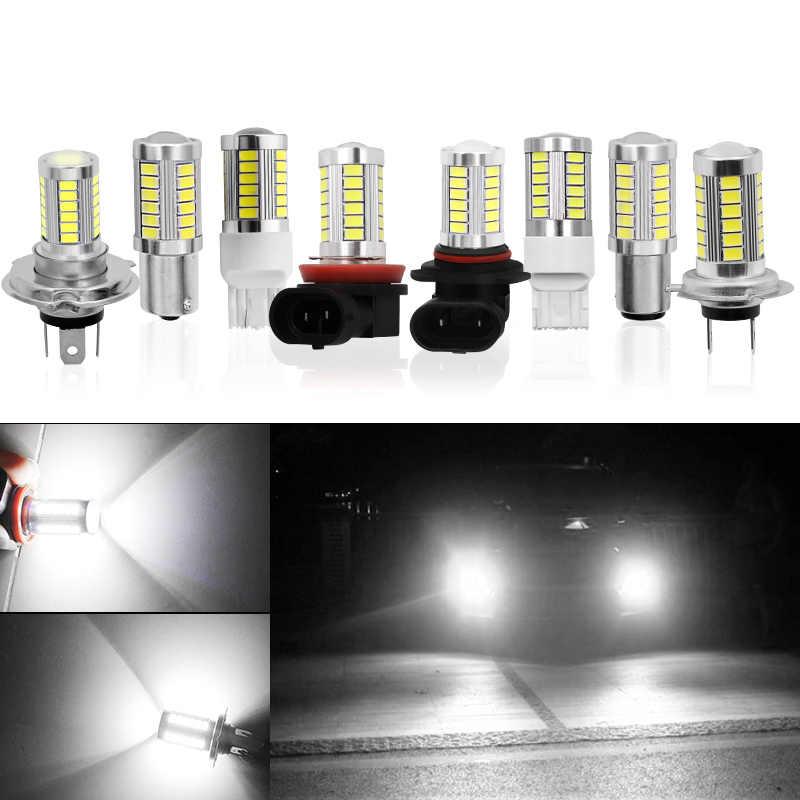 1х Автомобильная H8 H11 светодиодная 9005 HB3 9006 HB4 h4 h7 hi/lo p13w H16 5630 33SMD противотуманная фара дневного света лампа поворот Парковка лампа 12 В
