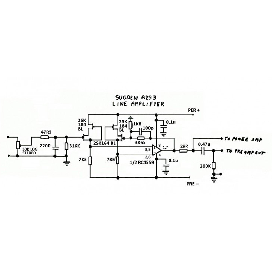 RC4559 op dual channel amp Classic pre amplifier Reference A25 preamp amplifier Board in Amplifier from Consumer Electronics