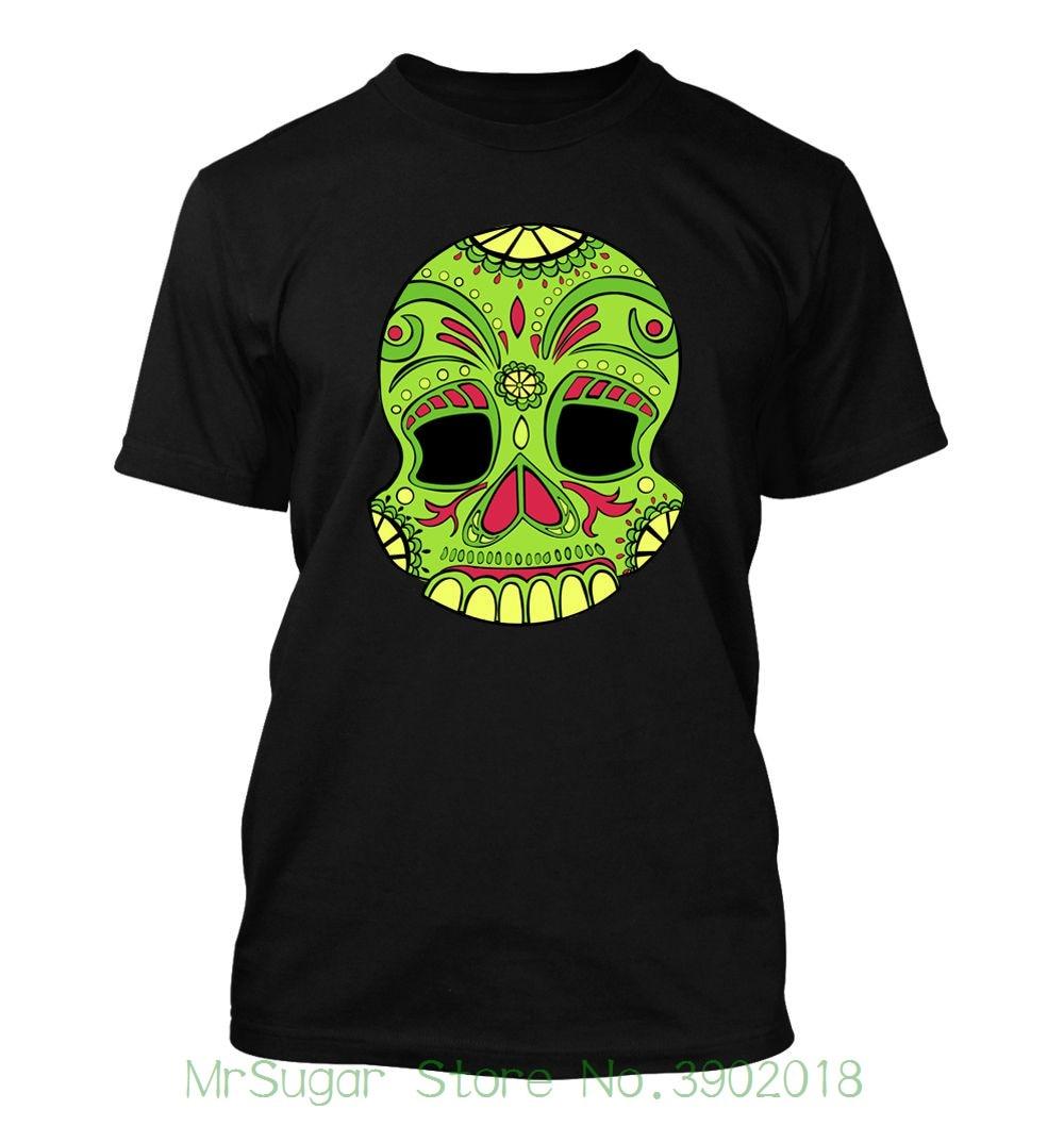 Green Dod Skull #105 - Mens T-shirt - Funny Humor Comedy Halloween Ghosts Boo Men Short Sleeves T Shirt
