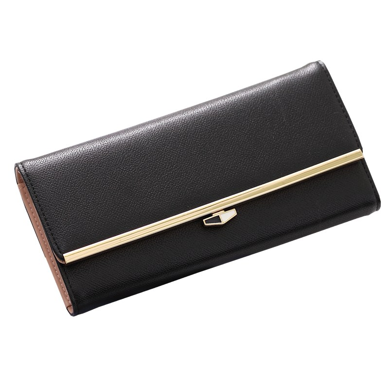 Unstyle new elegant simple wallets casual pure color long purse classic fashion...