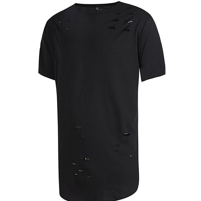 2017 brand new clothing mens black long t shirt men tops for Latest shirts for mens 2017