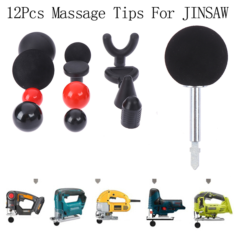 Massager Accessories Black/Red Replaceable Percussion Deep Massage Tips For Body Muscle Massager Bit Tip 12 Styles