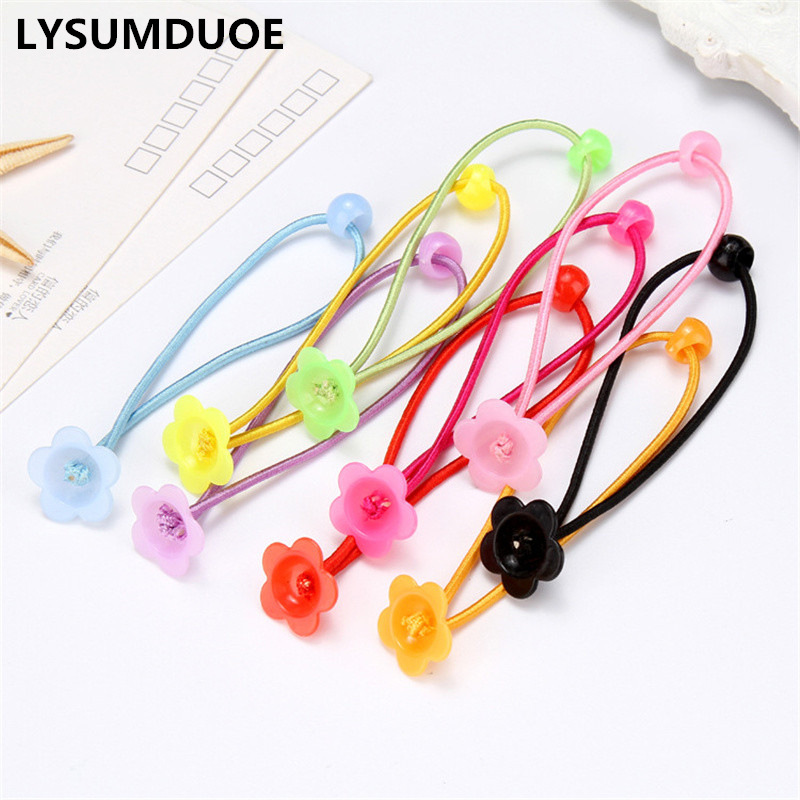 Fashion 30Pcs Girl Elastic Hair Bands DIY Flower Hairband Women Rope Ring Ribbon Gift Ornaments Ponytail Holder Hair Accessories
