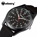 INFANTRY Men Quartz Watches Military Army Ultra Thin Nylon Luminous Sport Watch Relogio Masculino 24 Hours Display Wristwatch