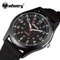 INFANTRY Men Quartz Watches Military Army Ultra Thin Nylon Luminous Sport Watch Relogio Masculino 24 Hours Display Wristwatch