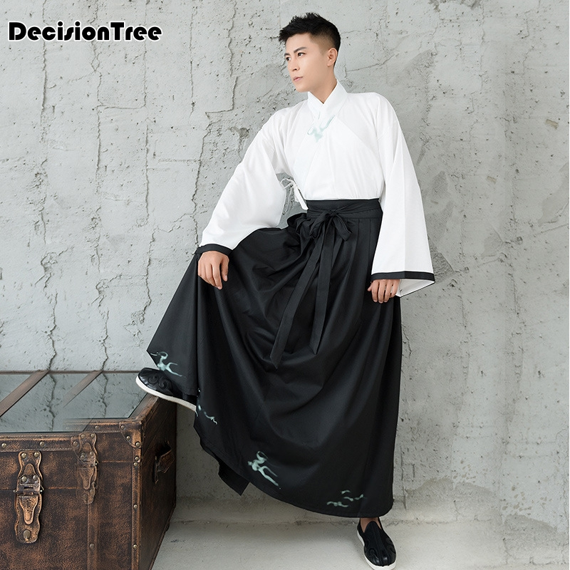 2019 new male tailed costume hanfu cosplay stage performance costume for photography jinlichao male costume hanfu