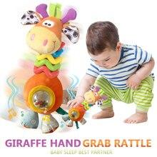 Погремушка Жираф жираф игрушка 1 комплект хобби ребенка Крам погремушка колокольчик плюшевые подвесные животные Мягкая Кукла Мягкая кроватка
