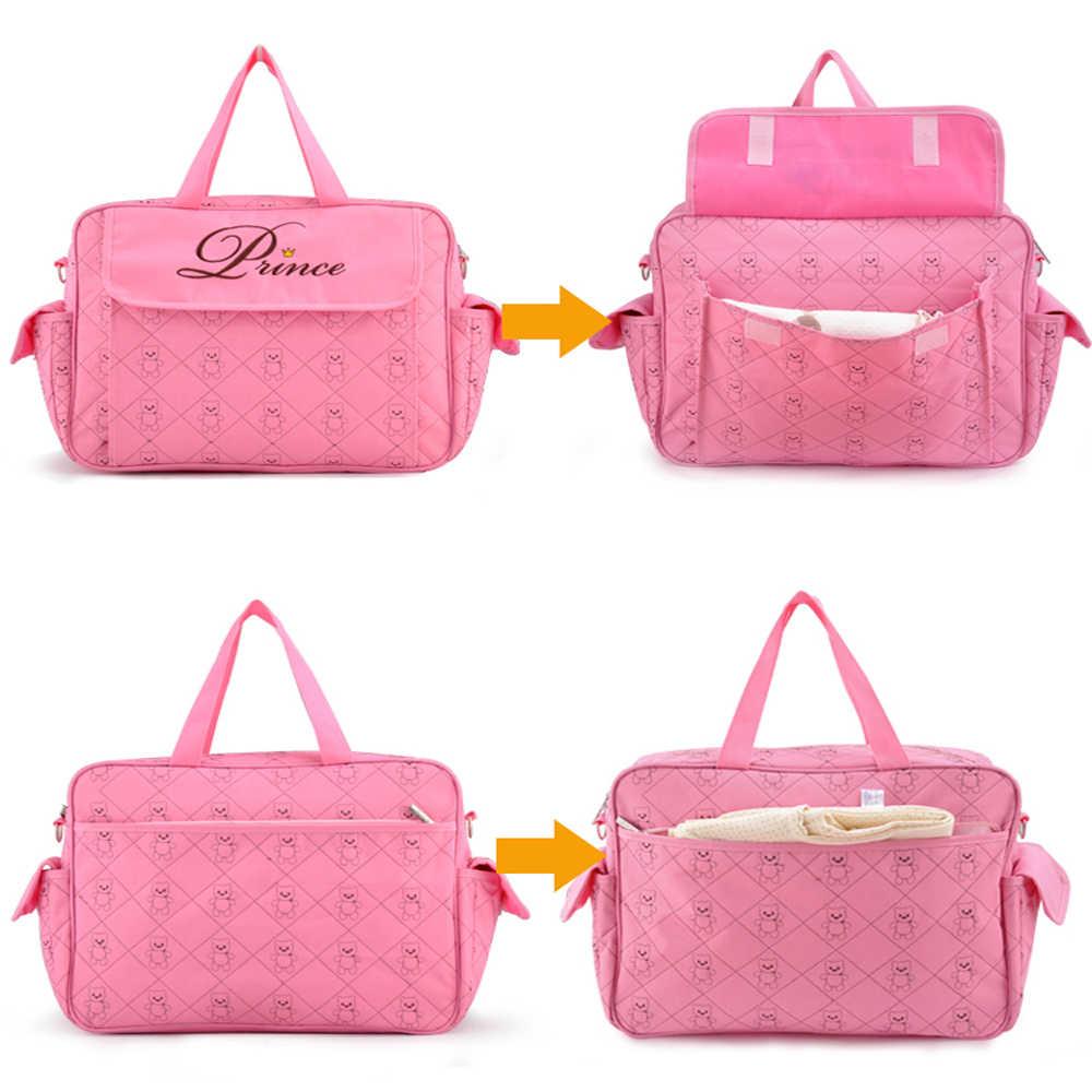 Insular Mommy กระเป๋าสำหรับรถเข็นเด็กทารกกระเป๋าผ้าอ้อมกระเป๋า Multifunctional Maternity กระเป๋าเดินทางทนทานพยาบาล