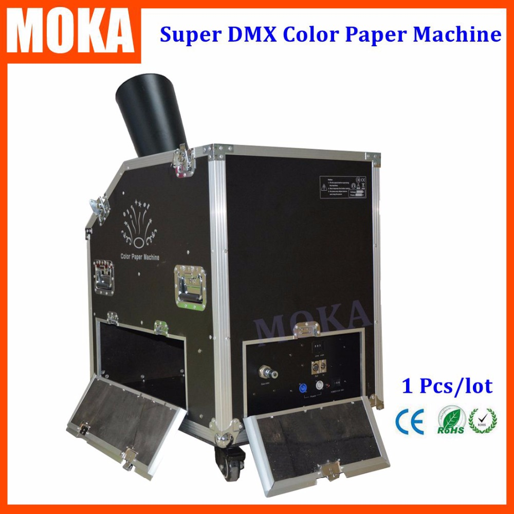 Fly Case Packing Super Color Paper Machine Dmx Confetti Blower Special Effect Cryo Jet Confetti Cannon For Festival Decoration