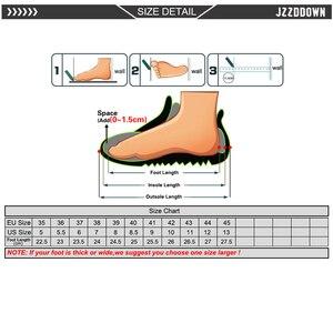 Image 5 - Jzzddown couro genuíno sapatos de luxo mulher plataforma rendas até oxford sapatos femininos mocassins porco camurça senhoras sapatos com saltos 4.5 cm