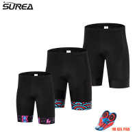 Surea 2017 Men No Suspend High-quality Cycling Bib Shorts MTB Bike Short Pants Bicycle Tights With Summer Coolmax 9D Gel Pad