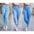 Calça Jeans de Cintura alta Para As Mulheres 2016 Inverno New Feminino Casual Skinny Lápis Calças Jeans Buraco Mulheres Jeans Roupas 1629