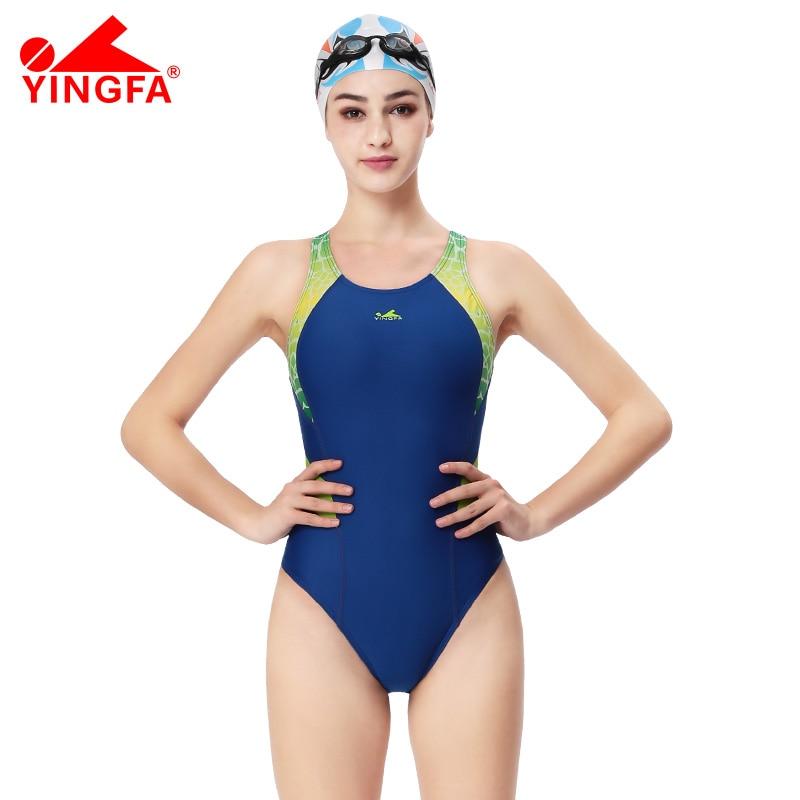 Yingfa Професійні змагання спорт один шматок трикутник водонепроникний купальники дитячі жіночі тренувальні купальники купальний костюм