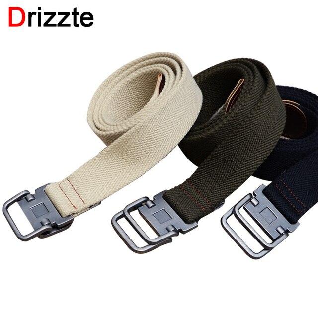 Drizzte 130-150cm Long Plus Size Double Ring Canvas Men's Belt Band Trouser Pants Mens Canvas Belts For Jeans XL XXL XXXL