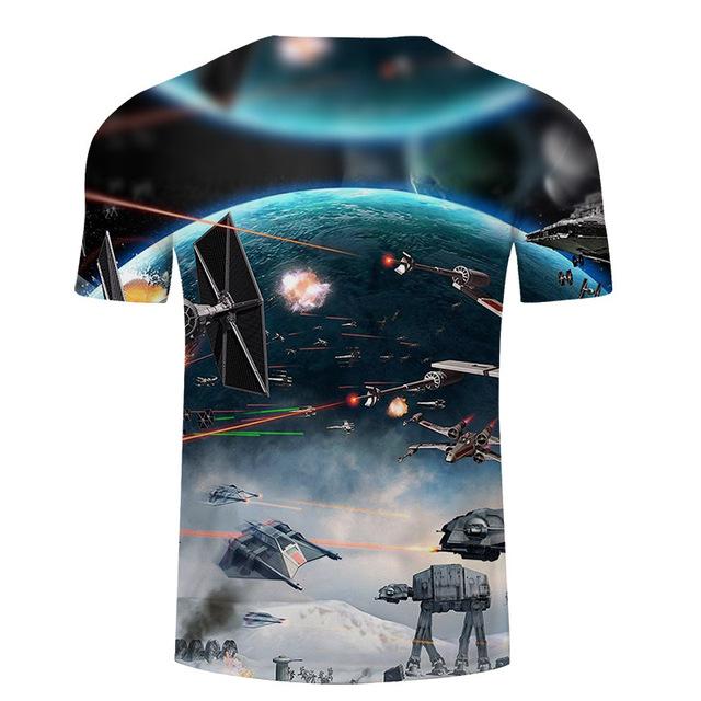 2018 Newest 3D Printed star wars t shirt Men Women Summer Short Sleeve Funny Top Tees