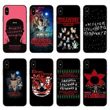 Stranger Things Christmas Lights black Soft silicone TPU Phone Cover Cases For iphone 7 7Plus 6S 6Plus 5 5S SE 8 8Plus X