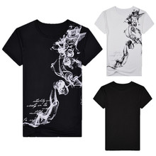 new style hot sale Fashion Men's Summer Casual Slim Fit Printed Short Sleeve T-shirt Pullover Top Blouse high quality
