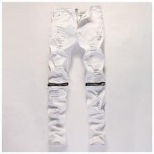 Neue Hallo-Straße Herren Black Ripped Jeans Männer Plus Größe Mode Männlichen Distressed Dünne Jeans Zerstört Baumwolle Denim Jeans PantsYA084