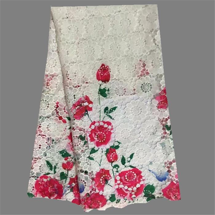 ୧ʕ ʔ୨Niza flor patrón impresión colorida boda de la tela del ...