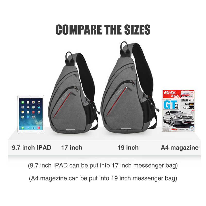 Maxi erkekler tek omuz sırt çantası kadın tek kollu çanta USB erkek bisiklet spor seyahat çok yönlü moda çanta öğrenci okul üniversite